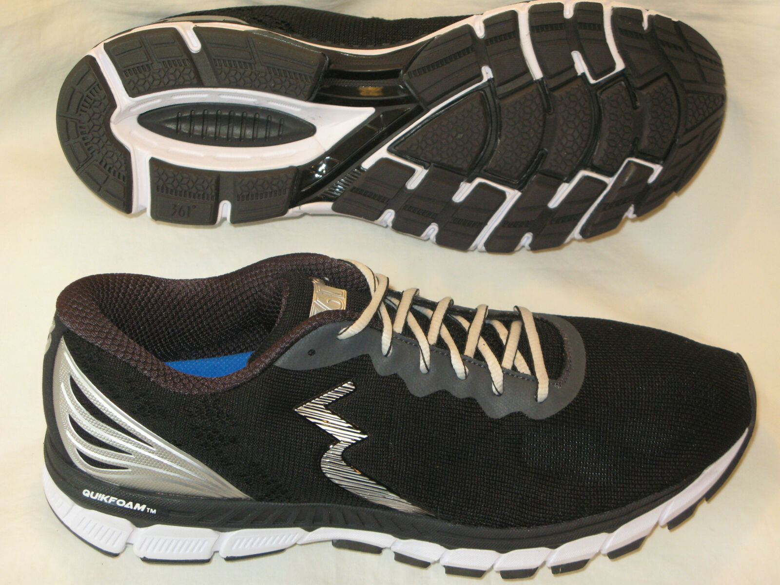 361 Degrees Mens Running shoes USA 10 Light Minimal Trainer BRAND NEW