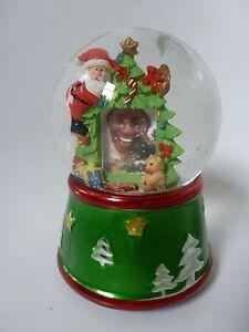 Gisela Graham Santa Christmas Snow Globe With Photo Frame Holder