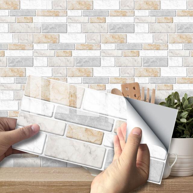 3d Self Adhesive Kitchen Wall Tiles Bathroom Mosaic Tile Sticker Peel Stick 9x For Sale Online Ebay