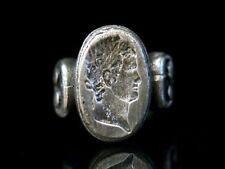 "Siegel Ring Wappen Silber 800 mit Caesar Kopf  ""Hera Farnese"""