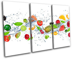 Food Kitchen Fresh Vegetable TREBLE CANVAS WALL ART Picture Print VA