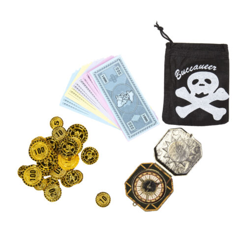 Eyepatch Coins Sword Compass Kids Pirate Party Props Party Bags Bandana