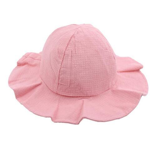 Baby Kids Summer Sun Cap Infant Boy Girl Beach Bucket Hat Visor Cap Headwear FA