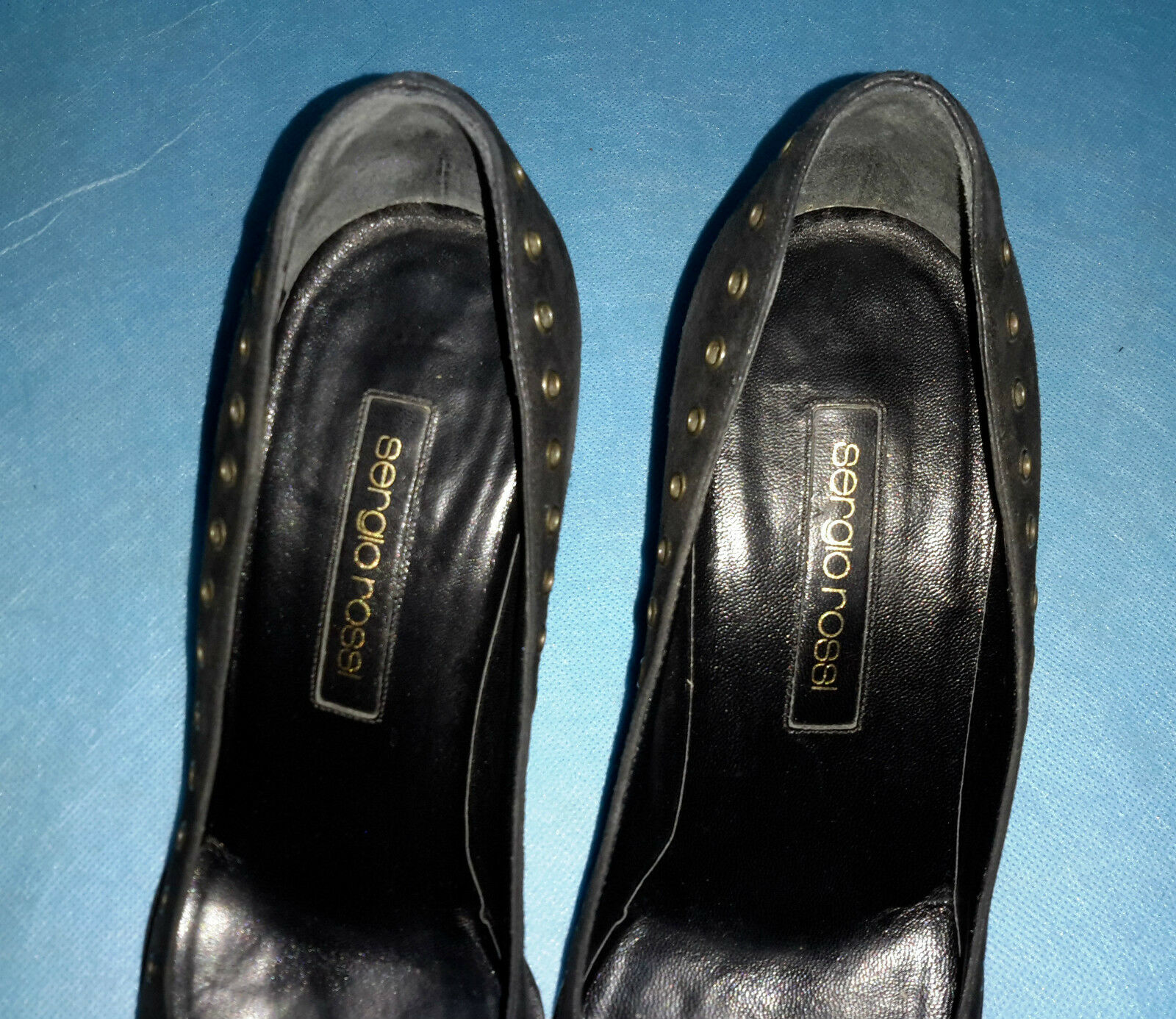 Court shoes SERGIO ROSSI 100% 100% 100% black leather size 38 FR very good condition cd1ccc