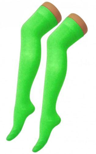 Donna sopra il ginocchio Calze Plain coscia alta Verde Adulti elastico OTK Calzini