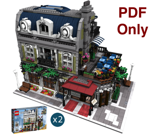 Custom Modular Building - Instructions ONLY P D F - Lego Parisian Modified  10243