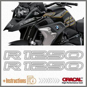 2pcs-R1250-Bianco-BMW-R-1250-GS-2019-HP-Motorrad-ADESIVI-STICKERS-Adventure