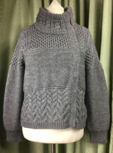 Uk18 Velvet Grey Bnwt Eu46 alpaca Cardigan Mint in lana Fw5O0q