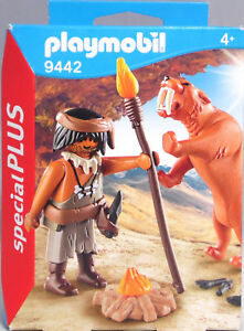 Playmobil-Special-Plus-9442-Neandertaler-Saebelzahntiger-Lagerfeuer-NEU-SEALED
