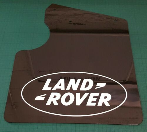 Land Rover Defender 90 vehículo MUD FLAP SET 2011 Puma Negro Brillante