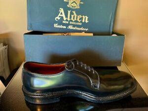 Alden-Mens-Cordovan-Plain-Toe-Blucher-Oxford-Shoes-Brand-new