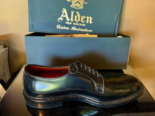Alden Mens  Cordovan Plain Toe Blucher Oxford Shoes Brand new
