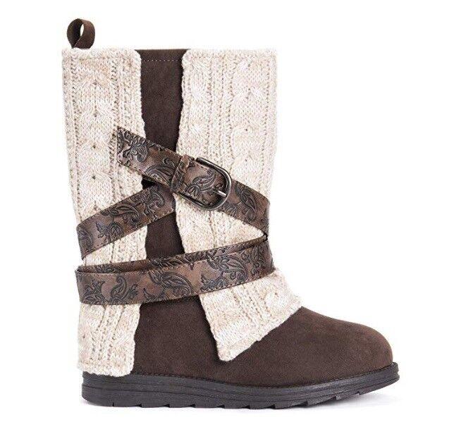 MUK LUKS Women's Nikki Boots Fashion, Oatmeal, US Size 6