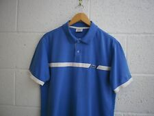 LACOSTE SPORT POLO SHIRT, DEVANLAY, SIZE - 4 / MEDIUM, BLUE, VGC