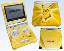 Nintendo Game Boy Advance SP Skin Vinyl Decal Sticker - Pokemon Pikachu #2