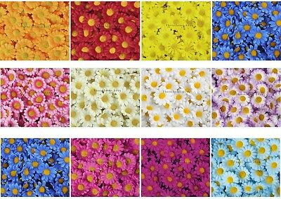 (52-499Pcs) 4cm Daisy Flower Silk Flowers Heads Wedding Party Home Decorations