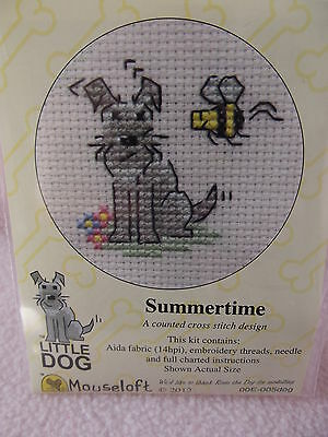 Mouseloft stitchlets Cross Stitch Kit ~ Perrito ~ Walkies ~ nuevo