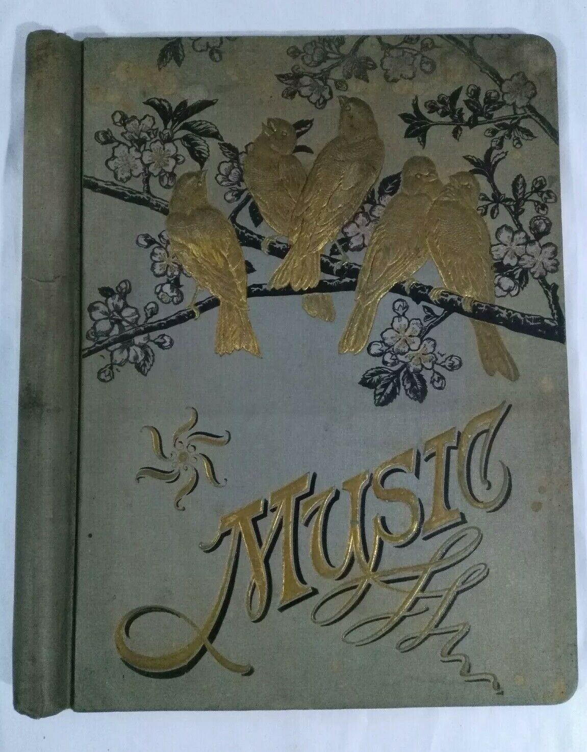 Antique Sheet Music Holder Folding Cover Vintage