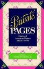 Private Pages Diaries of American Women 1830s-1970s by Penny Franklin Paper