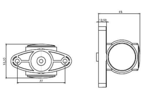 2x 12//24 Volt Recovery Seiten Marker Led-Lampen Lampe Traktor Lkw Bus H65 Mm