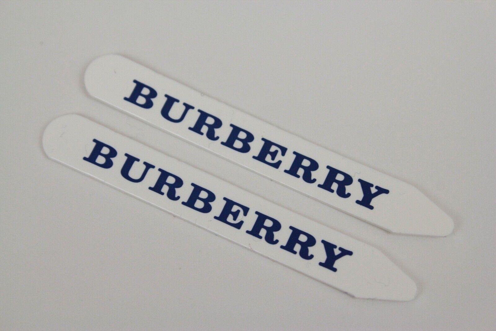 Mens BURBERRY White Blue Plastic Collar Stays Stiffeners