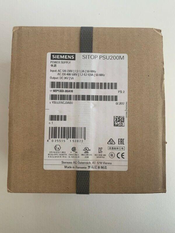 Siemens SITOP PSU200M 24VDC 5A Stabilised power supply 6EP1333-3BA10