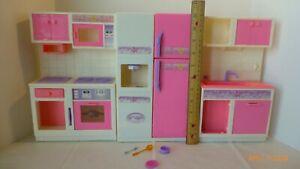 Vintage Goldlok Toys Barbie Size Kitchen Set 3 Piece Fridge Sink Oven Stove Rare Ebay