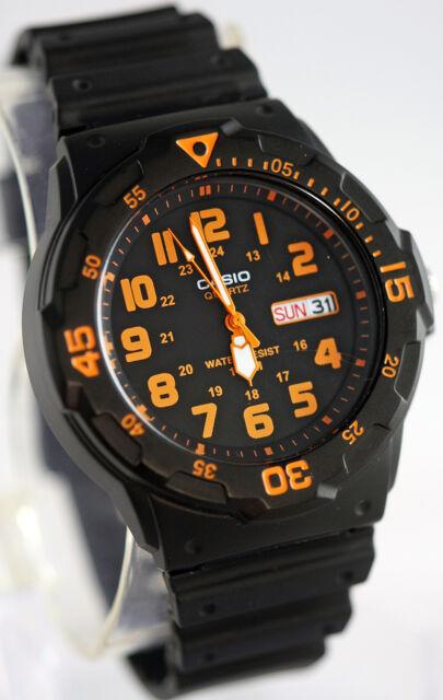 Casio MRW-200H-4BV Men's Analog Watch 100m WR Orange Day Date Neo Display New