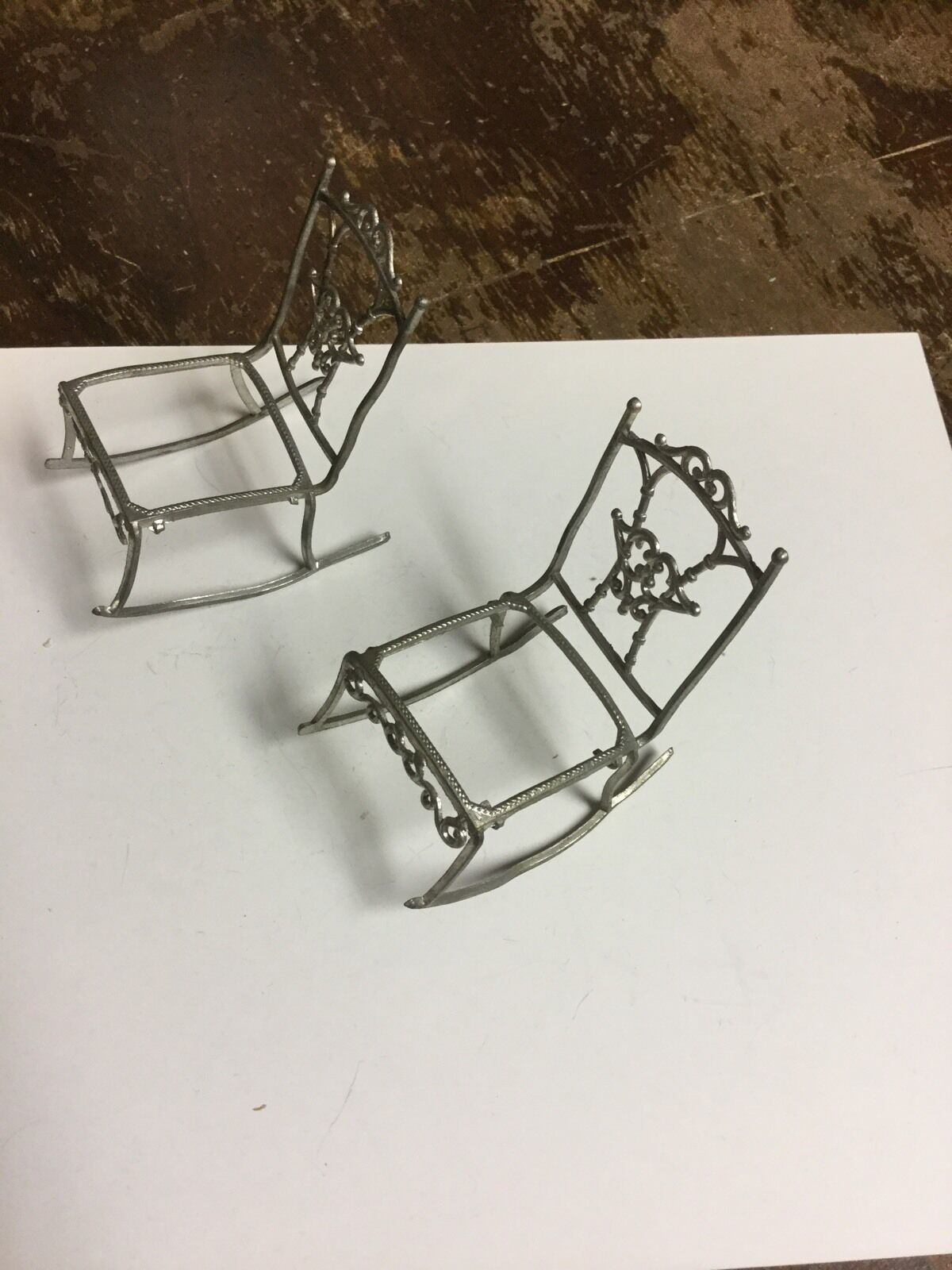 Dollhaus Miniature weich Bendable Rocking Chairs