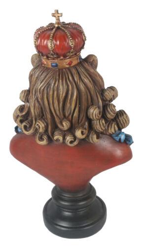 39CM GENTRY LION KING BUST REGAL ROYAL CROWN POLYSTONE ORNAMENT