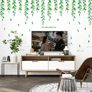 Image Is Loading Forest Green Style Wall Sticker Tv Sofa Background