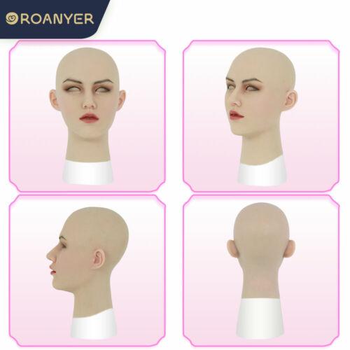Roanyer Realistic Silicone Female Head Mask for Cosplay Crossdresser Transgender