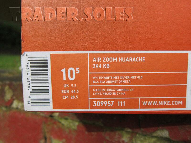 Il sergente nike zoom air kobe 2k4 laser flyknit huarache sz 10,5 flyknit laser presto biancastro 687b41