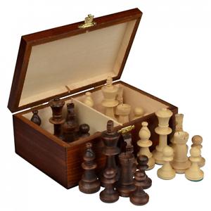 Staunton No. 5 Tournament Chess Pieces w/ Wood Box, New, Free Shipping.