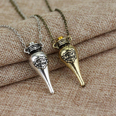 Fashion Jewelry Harry Potter Bottle Fans Pendant Necklace Gift Accessories