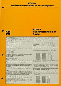 Kodak POLYCONTRAST II RC Papier - Kodak Datenblatt P-E4 - Deutschland - Kodak POLYCONTRAST II RC Papier - Kodak Datenblatt P-E4 - Deutschland