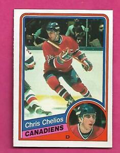 1984-85-OPC-259-CANADIENS-CHRIS-CHELIOS-ROOKIE-NRMT-CARD-INV-C9070