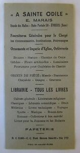 Antique-Brand-Pages-Bookmark-Advertising-Bookstore-with-Sainte-Odile-in-Evreux