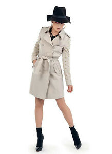 Senza 45dr31004 Art Beige Borchie Col Rose Trench Denny OwqHdXgd