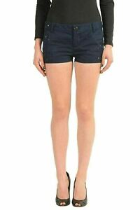 Dsquared2-Navy-Distressed-Women-039-s-Casual-Shorts-US-XS-IT-38