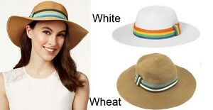 70a13b6b Image is loading August-Women-039-s-Hat-Stripe-Band-Floppy-