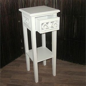 Attractive Image Is Loading COTTAGE HOUSE STYLE TELEPHONE TABLE White 25 5x10x10