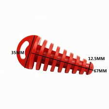 Red 2 Stroke Muffler Tail Pipe Exhaust Silencer Wash Plug Dirt Pit Bike Motor
