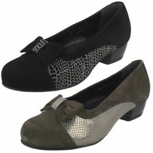 Damen-Da-Bella-Slip-Auf-Absatz-Schuhe-039-Saltby-039