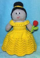 KNITTING PATTERN - Beauty and the Beast Belle inspired 32 cms soft toy doll
