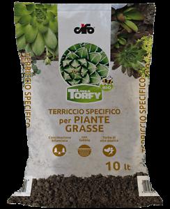 TERRICCIO SPECIFICO per PIANTE GRASSE CACTUS SUCCULENTE TERRA CIFO TORFY 10 LT