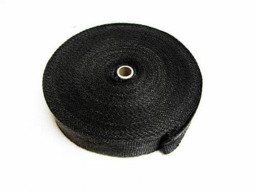 Black Exhaust Heat Wrap  High Temp Manifold Front Pipe Exhaust Shields 5 M