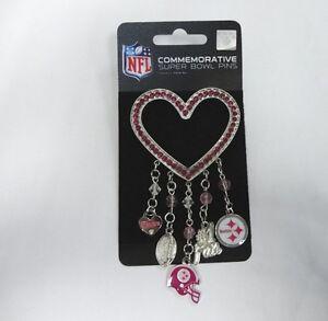 f91079164 Image is loading PITTSBURGH-STEELERS-Logo-NFL-Pink-Rhinestone-Silver-Heart-