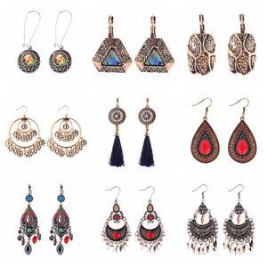 Women-039-s-Vintage-Metal-Bohemia-Gypsy-Ethnic-Elegant-Dangle-Drop-Earrings-Jewelry