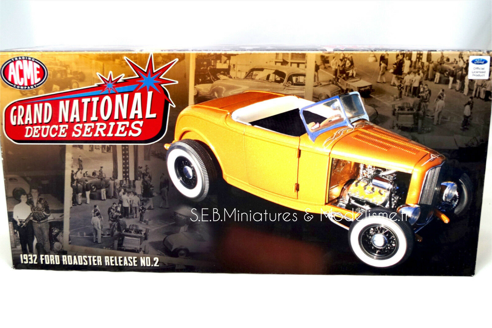 FORD HOT ROD GRAND NATIONAL ROADSTER DEUCE SERIE 2 1932 ACME 1 18